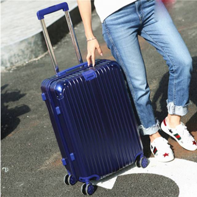 """20"""" Inch ABS Scratch Resistance Stripe Print With Shinny Texture Travel Luggage (Model: XY-1211)"""