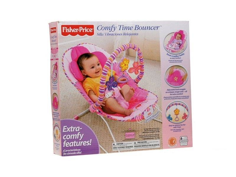Fisher Price Comfy Time Bouncer Pink Rocking Chair (Model: T5051)