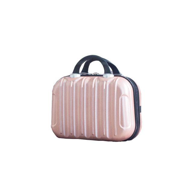 """14"""" Inch ABS Make-up Travel Suitcase With Elastic Strap (Model: AB-14)"""
