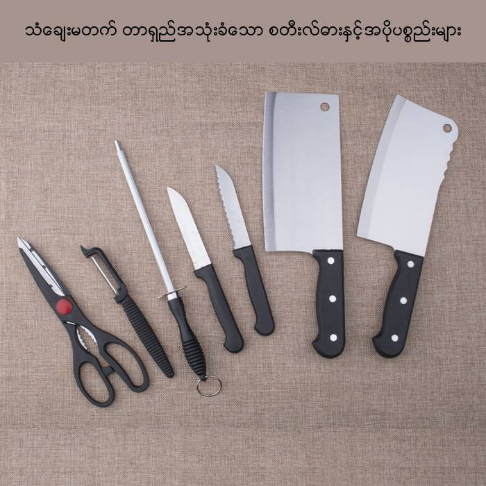 CHIEF ZHANG German Stainless Steel Kitchen 8PC Knife Set (Model: 3CR13B)