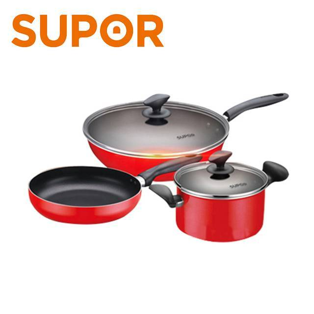 SUPOR Cookware Nonstick Stainless Steel 3 Piece  Pot Set  (TP1501E) (FO19M)