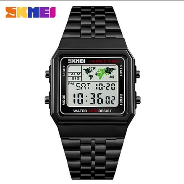 SKMEI Multi-functional EL Luminous Depth Waterproof Digital Sport Men's Watch (Model: 1338) (FO21E)