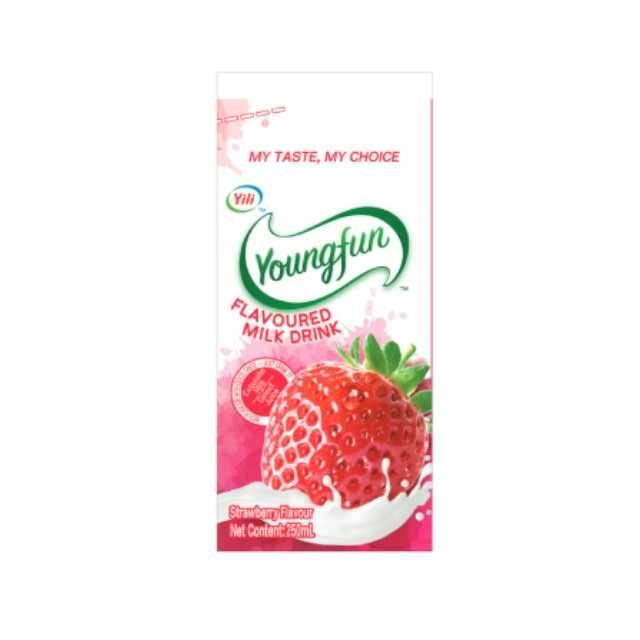 Youngfun Strawberry Flavoured Milk Juice 250ml