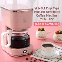 YUMELI Drip Type Mini LED Automatic Coffee Machine 750ML Pot