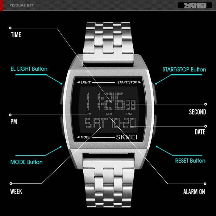 SKMEI Luminous Multi-function Digital Depth Waterproof Men's Sport Watch (Model: 1368)