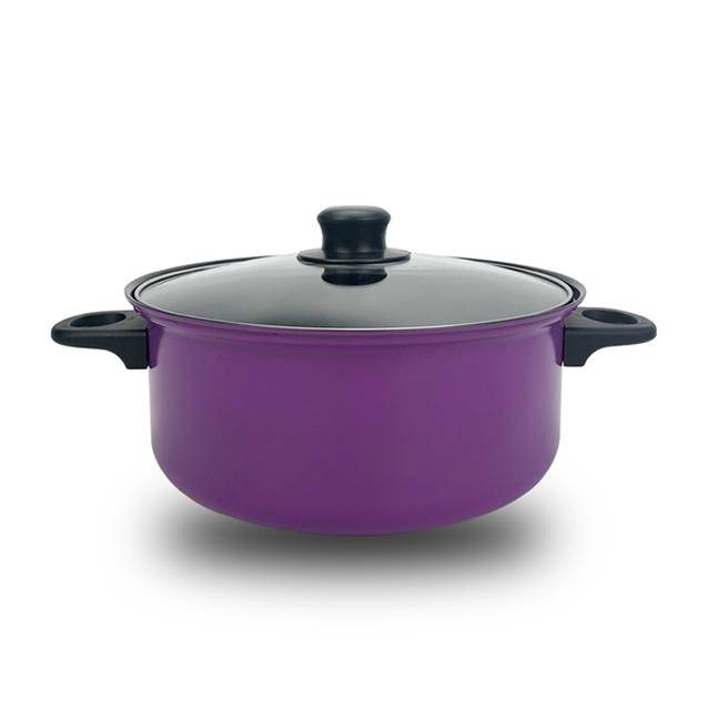 Value Deals  Steel Purple Frying Pan, Soup Pot, Milk Pot 3 Piece Set (Model:YL3118PUR)