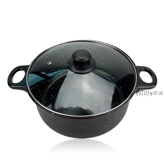 Value Deals  Steel Black Frying Pan, Soup Pot, Milk Pot 3 Piece Set (Model:YL3118 )