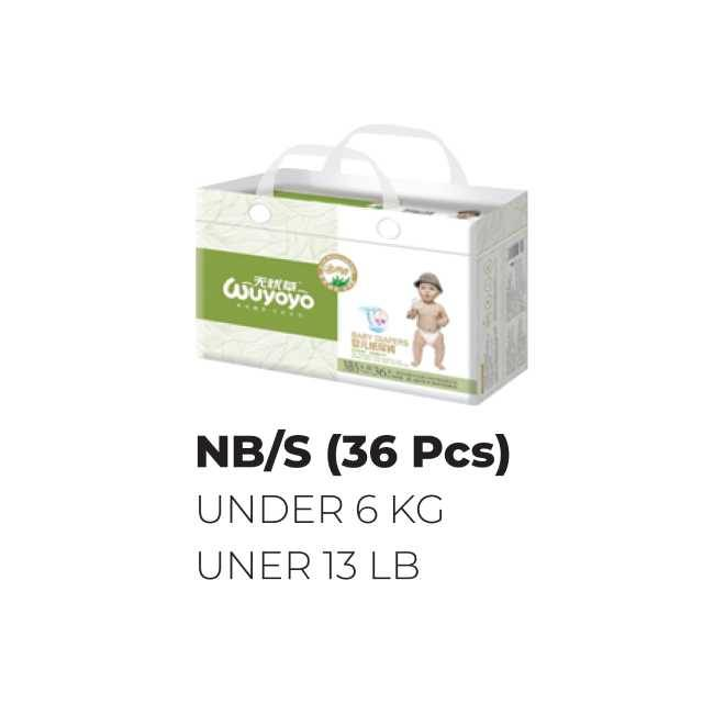 Wuyoyo Baby Diaper Regular Tape Small &New Born 36 Pcs (Wyyrpt-S/NB)