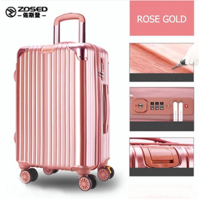 "ZOSED 24"" Inch Luxury Universal Silent Wheel With TSA Lock Travel Luggage (Model: 8680)"