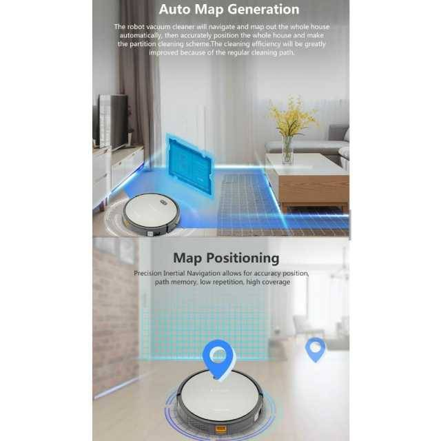 Mini Helper Suzuka Professional Robot Vacuum with APP/MOP/MAP