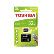 Toshiba MicroSDHC UHS-1 Card 32GB with SD Adapter C10 100MB/s