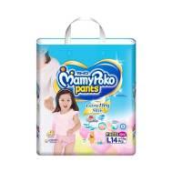MamyPoko Pants Extra Dry Skin Diaper for Girl (L-14 pcs)