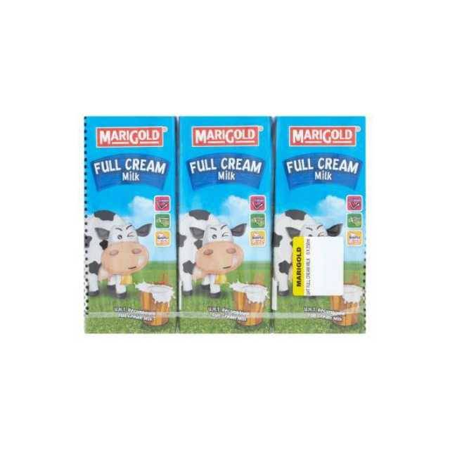Marigold UHT Full Cream Milk 200ml (3Pcs)
