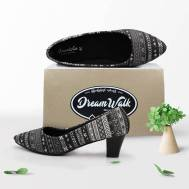 Dream Walk Block Heel Pump( 2 inches) (DW43)