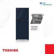 Toshiba 2Door Refrigerator 234L (Inverter),Urban Blue,Steel Door(Uni-Glass)  GRA-28KU(UB9)