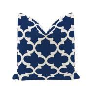 City Bean Bag Pillow blue (Geometric Figure)