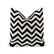 City Bean Bag Pillow black (Geometric Figure)