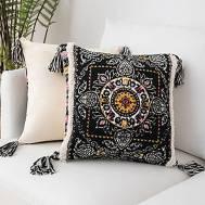City Bean Bag Boho Pillow Black