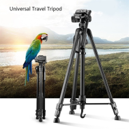 Professional Aluminum Travel Tripod & Pan Head Portable For Camera & Phone