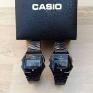 Casio Diamond Black Series Couple Watch A159 ( First Copy ) + Gift