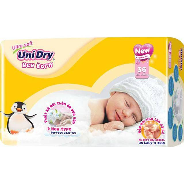 Unidry Tape Diapers 36 pads (NB36)