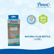 Pureen NATURAL PLUS - FEEDING BOTTLE 4.0Z (31BFD020010)