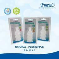 Pureen BPA-FREE NATURAL-PLUS NIPPLE - L  3'S  (31BFD108030)