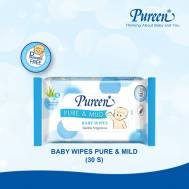 Pureen PUREEN BABY WIPES PURE & MILD 30'S (BLUE) (31BBW110312)
