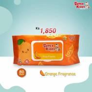 Super Kiddy Wet Tissue(80 Sheets)Orange Fragrance