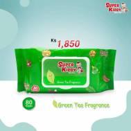 Super Kiddy Wet Tissue(80 Sheets)Green Tea Fragrance