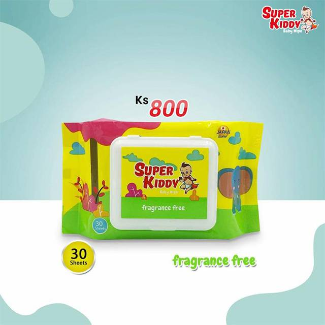 Super Kiddy Wet Tissue(30 Sheets)fragrance free