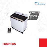 TOSHIBA 13 Kg Twin Tub Semi-Auto Washing Machine (VHH-140WMM)