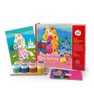 Mideer Step by Step Gouaches Paint by Number Kit-Princess(JM05199)