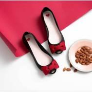 Emmi Slipper Footwear - Black (red bow) (001)