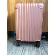"20""Inch ABS Stripe Scratch Resistant Zipper 3 Digit Travel Password Lock Luggage (WL-20-006) Rose Gold"